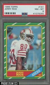 1986 Topps #161 Jerry Rice RC Rookie PSA 8 HOF 49ers