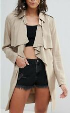 Trench Coat Belted Jacket with Tie Front Waterfall front by Glamorous