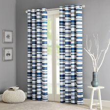 Intelligent Design Sadie Cotton Stripe Printed Curtain