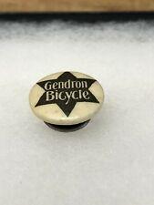 Antique 1890s 1900s Bicycle Stud Button Celluloid Pin GENDRON BICYCLE Cycle