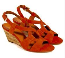 Ceniza en caja naranja Gamuza kadiah bis Sandalia De Cuña EU 37 UK 4 nos 6.5 RRP £ 150.00