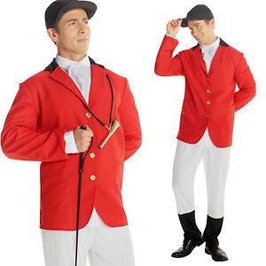 Mens Fox Hunter / Foxhunter Costume Fancy Dress Stag Nights Group Costume