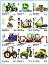 "AUSTRALIAN SITE: "" Modern & Trendy Tractors 1 "" ~ 16 Designs on CD"
