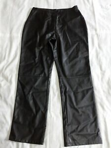*PVC TROUSERS * vintage Black Leather- Look Jeans Pants
