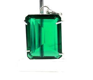 101.18Ct Certified Green Moldavite Pendant 925 Sterling Silver Gems Free Chain