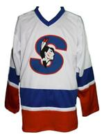 Any Name Number Size Springfield Indians Custom Retro Hockey Jersey White