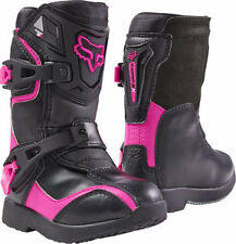 NEW 2018 Fox Racing Comp 5K PeeWee Youth MX Riding Boots Black/Pink Size 11