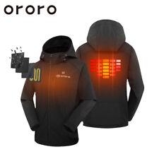 Cordless Black Heated Jacket ORORO Women Large Winter Hoodie Windbreaker Coat