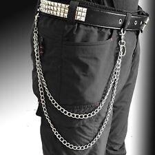Double Chains Gothic Hip Hop Jean Wallet Key Chain Punk Pants Trousers
