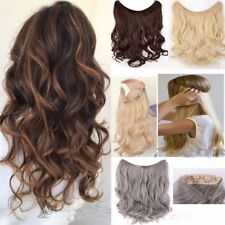 New Thick Wavy Secret Headband Wire in Human Hair Extensions Invisible Wire Long