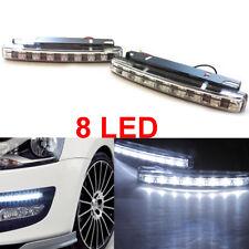 2pcs Super White 8 LED Universal Car DRL Daytime Running Head Light Lamp DC 12V
