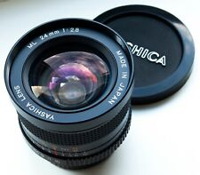 RARE CONTAX YASHICA C/Y MOUNT YASHICA ML 24mm 2.8 WIDE-ANGLE PRIME LENS