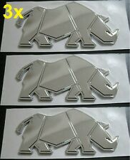 PACK de 3 x nouvelle Suzuki véritable RHINO BADGE Chrome Swift GV Jimny Vitara SJ Samurai 3
