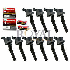 10x Ignition Coil DG508 Motorcraft Spark Plug SP479 For Ford Lincoln Mercury