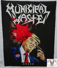 MUNICIPAL WASTE,,Dump Trump,,Backpatch Giant Back Patch Rückenaufnäher Aufnäher