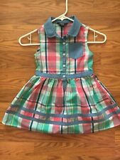 Nautica little girls plaid dress Size 5