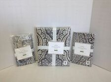 Pottery Barn Beale Paisley Multi Bed Duvet Cover Floral F/Q Gray 2 Sham Black