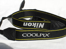 NIKON COOLPIX CAMERA NECK STRAP Black Yellow White   #00221