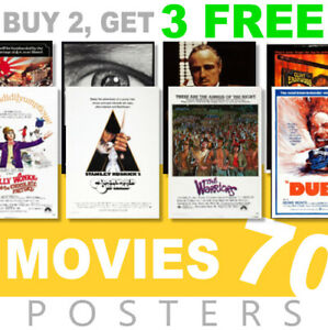 Classic Movie Posters 1970s 70s Poster, A4, A3 270gsm Poster, Prints, Art, Film