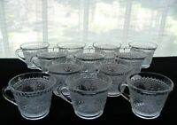 Tiara Indiana Glass 12 Clear Sandwich 6 oz Punch Cups