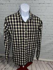 Dockers Men's Size L Black White Plaid Check Long Sleeve Button Down Shirt