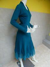 CORA KEMPERMAN jolie robe portefeuille doublée tulle taille S