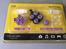 New PSP 3000 PSP 3001 Purple Hannah Montana Complete Buttons Replacement Set