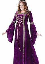 Lady In Waiting Costume Dress Medieval Renaissance Queen Princess - Plus 16-24