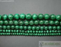 Grade A Natural Malachite Gemstone Round Beads 4mm 6mm 8mm 10mm 12mm 15.5'' Pick