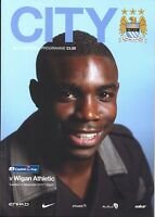 MAN CITY v WIGAN CAPITAL ONE CUP 2013/14 MINT PROGRAMME MANCHESTER