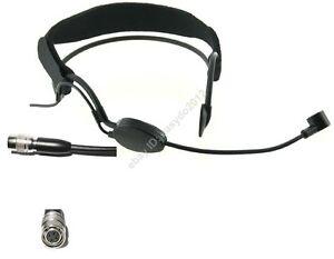 Black Condenser Headset headworn Microphone Mic for Audio Technica wireless
