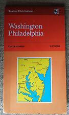 WASHINGTON - PHILADELPHIA carta stradale Touring Club Italiano 1:350000