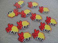 """96 PCs Retail Store Sale Price Tags Signs Card 3.6"""" x 2.5"""" Supplies"""