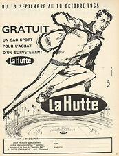 Publicité Advertising 1965  La Hutte  survetement de sport  jooging sac