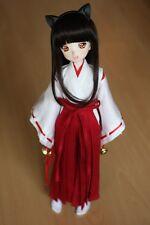 3pc Wihte&Red Inuyasha Kimono Miko Anime Suit/Outfit 1/4 MSD DOLL BJD Dollfie