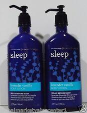 2 Bath & Body Works Aromatherapy Sleep Lavender Vanilla Body Lotion 6.5fl oz NEW