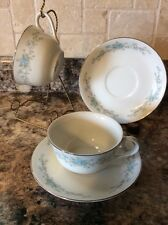 Vintage Royal Court China BLUE FANTASY Cup & Saucer Set of Two, Japan