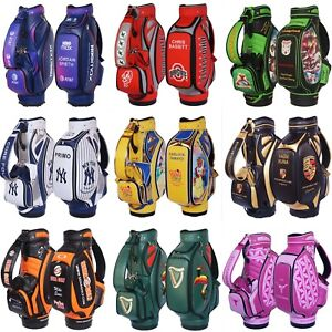 CUSTOM GOLF TOUR STAFF BAGS - Personalized with Your Name, Logos and Colors !