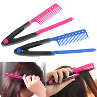 1X Straight Hair Comb Brush Tool For Dry Iron Hair Curl to Straight Hair ShaperT