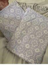 Darling Pair Pottery Barn Kids White Lavender Pillowcases Standard