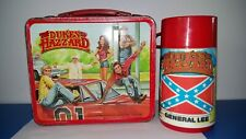VINTAGE LUNCHBOX DUKES OF HAZZARD & THERMOS 1980 EXC CONDITION ***NO RESERVE***