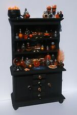 dollhouse miniature Gothic Witch spell Hutch Artisan wizard glow dark Halloween