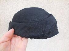+ Ancien chapeau de femme tissu noir - art déco années 20/30 +