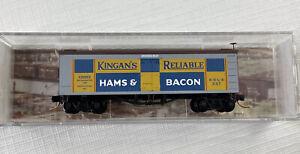N Micro Trains 058 00 130 Kingan's Ham & Bacon 36' Wood Sheathed Ice Reefer