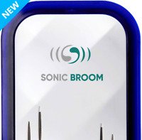 Sonic Broom 2 Ultrasonic Pest Repeller Plug, Mouse Insects Repel Mice Rats 2Pack