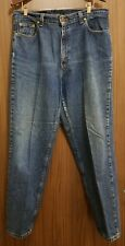 Womens Levis 561 Blue Jeans Red Tab Loose Fit Straight Leg Single Owner Size 16