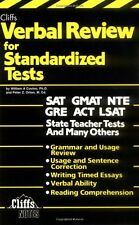 Verbal Review for Standardized Tests (Cliffs Test Prep) by William A. Covino, Pe