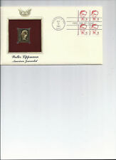 First day cover, Golden Replica stamp, & actual stamps Walter Lippmann Sep 1985