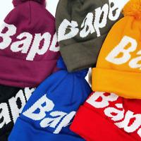 2018 AW A BATHING APE Men's BAPE KNIT CAP 6colors POMPON From Japan New