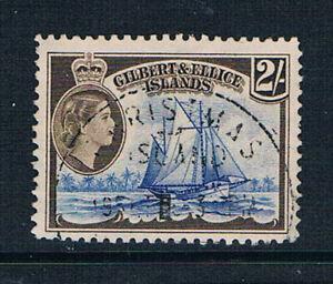 Gilbert & Ellice Islands 1956 QEII 2s H.M.C.S Nimanoa o/FU SG 73